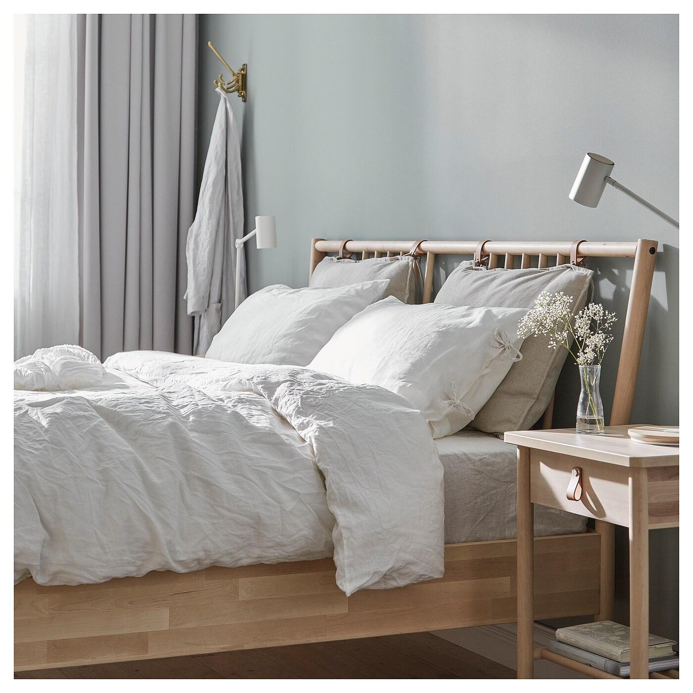 Bj rksn s bed frame birch lur y standard king ikea - Base a doghe ikea ...