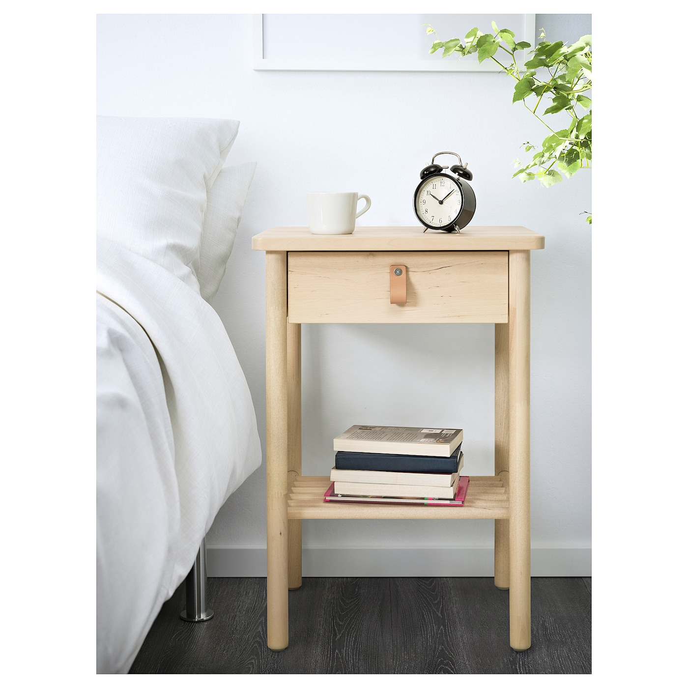 "BJ–RKSN""S Bedside table Birch 48x38 cm IKEA"
