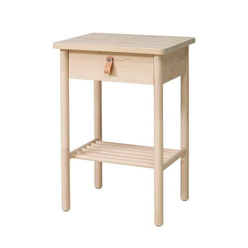 Ikea BjÖrksnÄs Bedside Table Smooth Running Drawer With Pull Out Stop