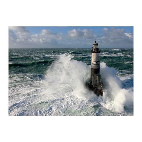 Bj 214 Rksta Picture Ar Men Lighthouse 200x140 Cm Ikea