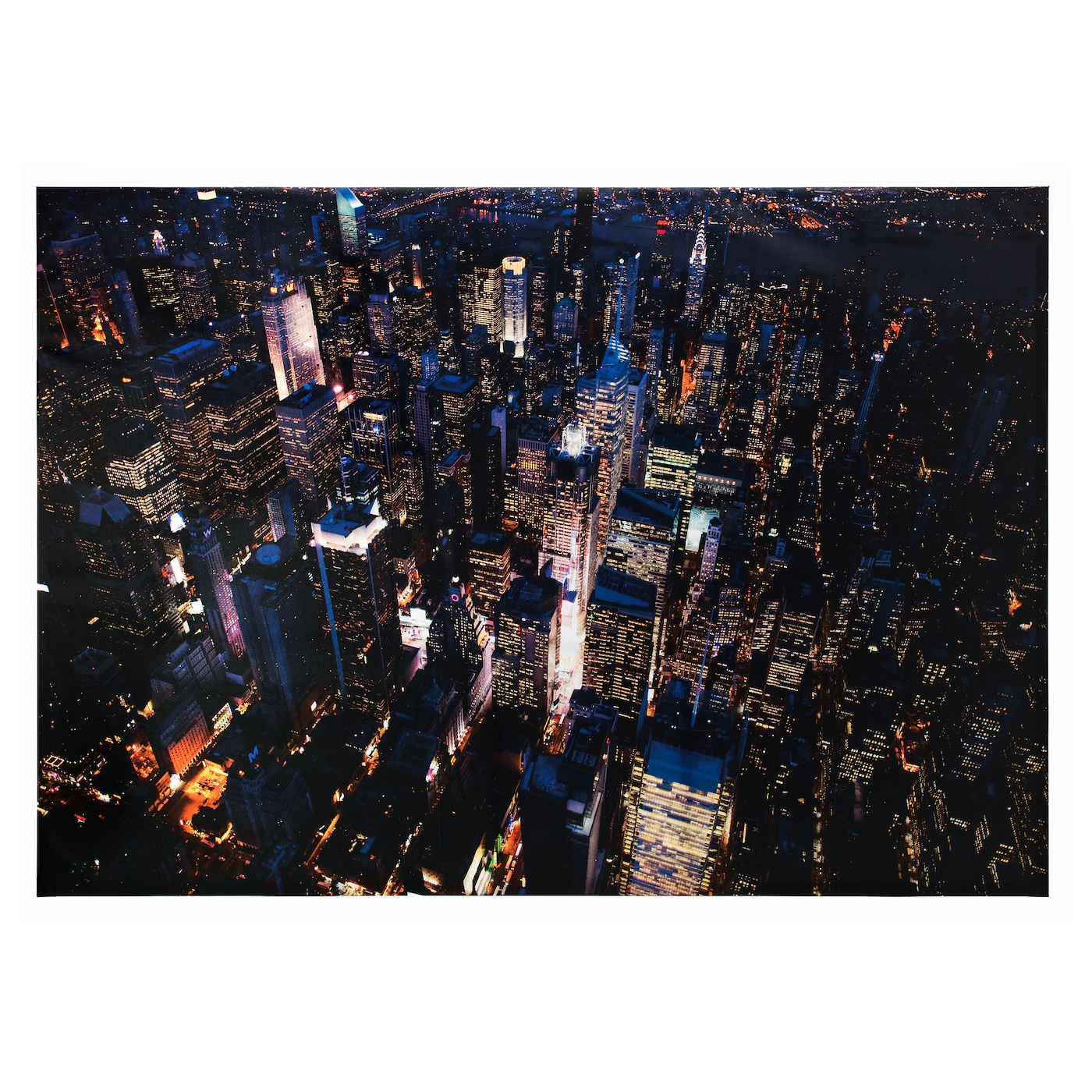 Bj rksta picture city lights new york 200x140 cm ikea for Ikea new york city