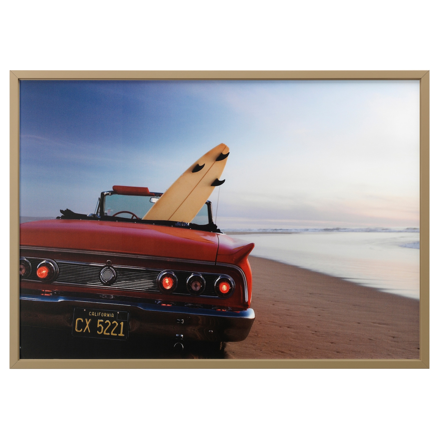 bj rksta picture with frame beach drive brass colour 140x100 cm ikea. Black Bedroom Furniture Sets. Home Design Ideas