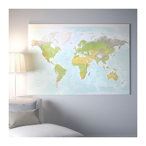Bjorksta Picture With Frame Planet Earth Black 200 X 140 Cm Ikea