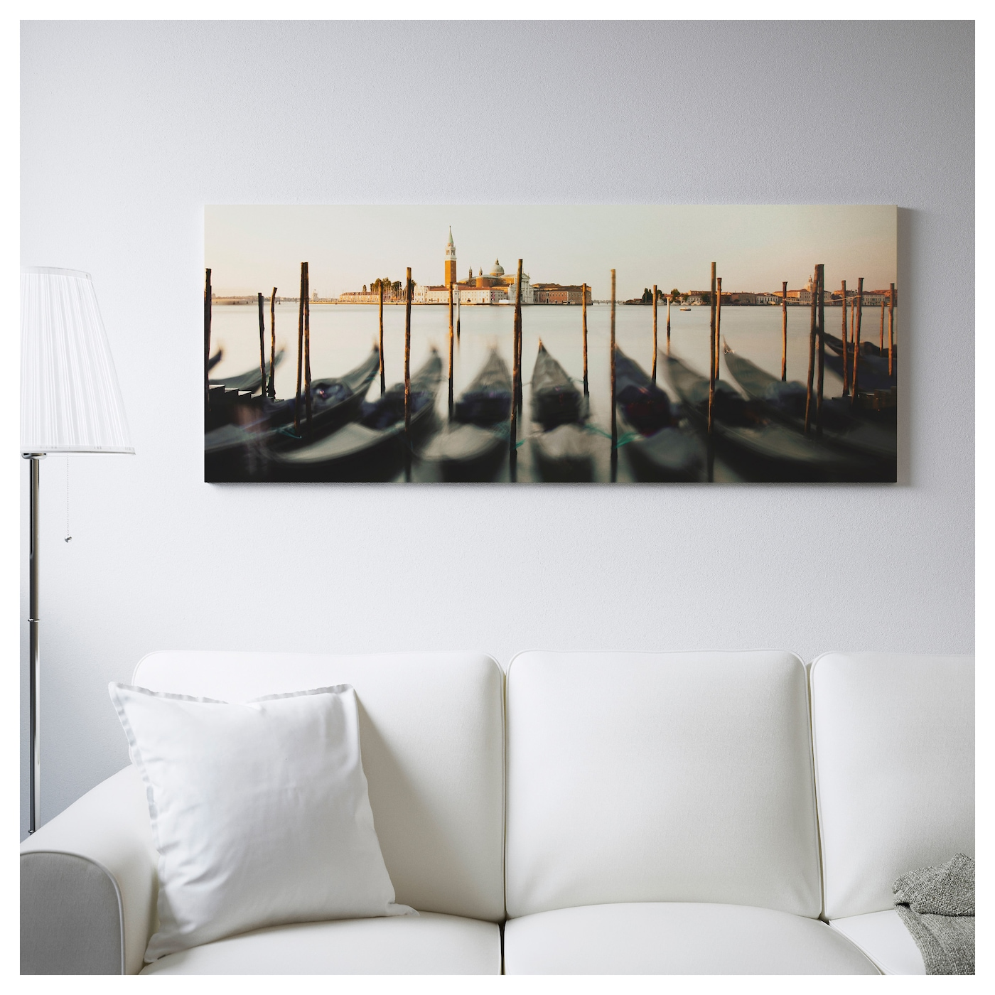 Ikea Orlando Large Family Showroom Scenario: BJÖRKSTA Picture With Frame Venetian Viewpoint/black 140 X