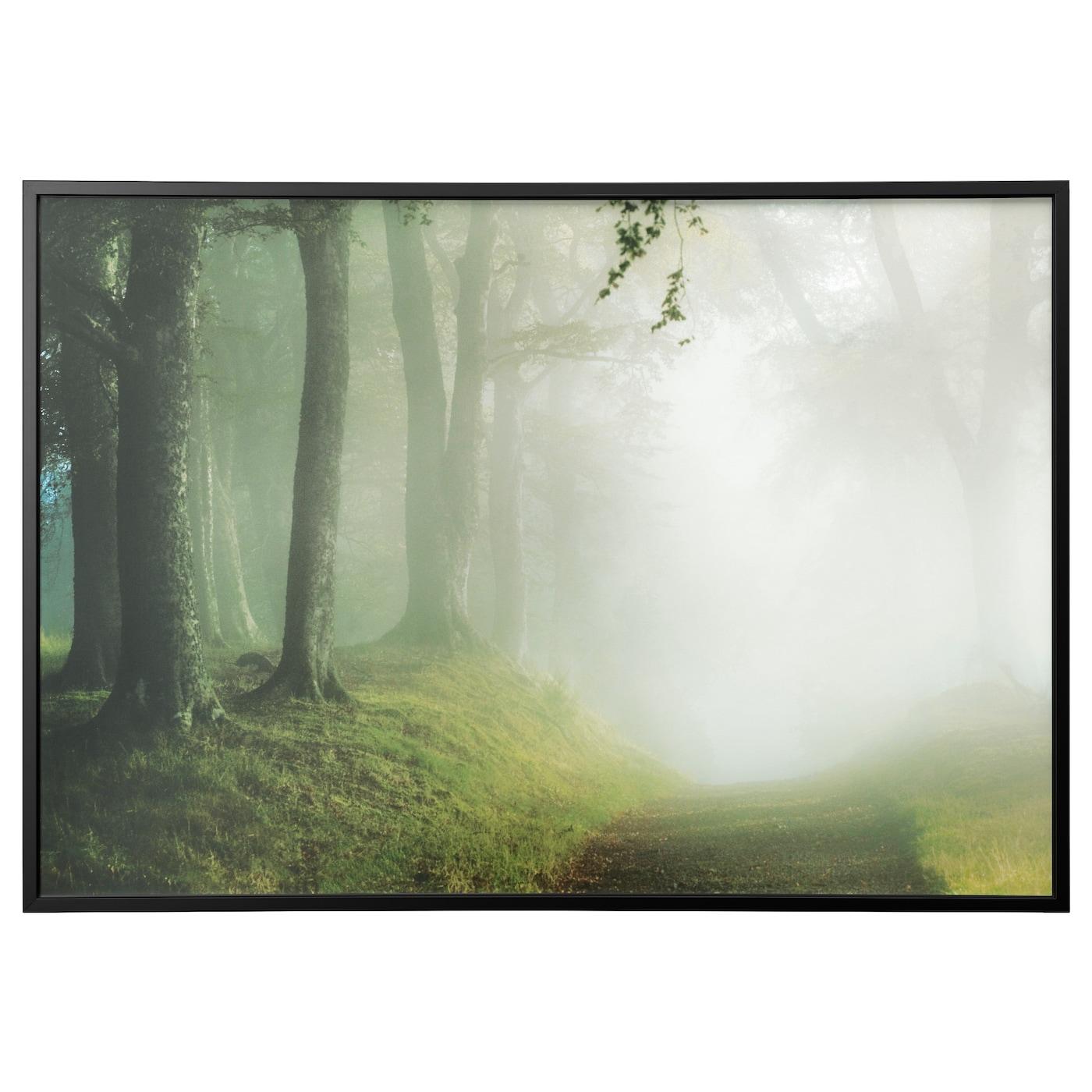 bj rksta picture with frame woodland way black 200x140 cm ikea. Black Bedroom Furniture Sets. Home Design Ideas