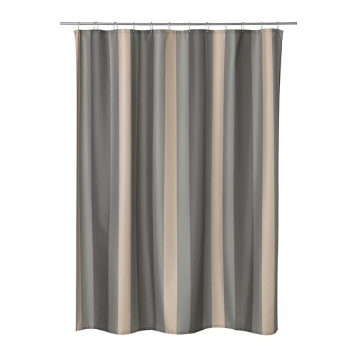 IKEA BJRNN Shower Curtain Densely Woven Polyester Fabric With Water Repellent Coating