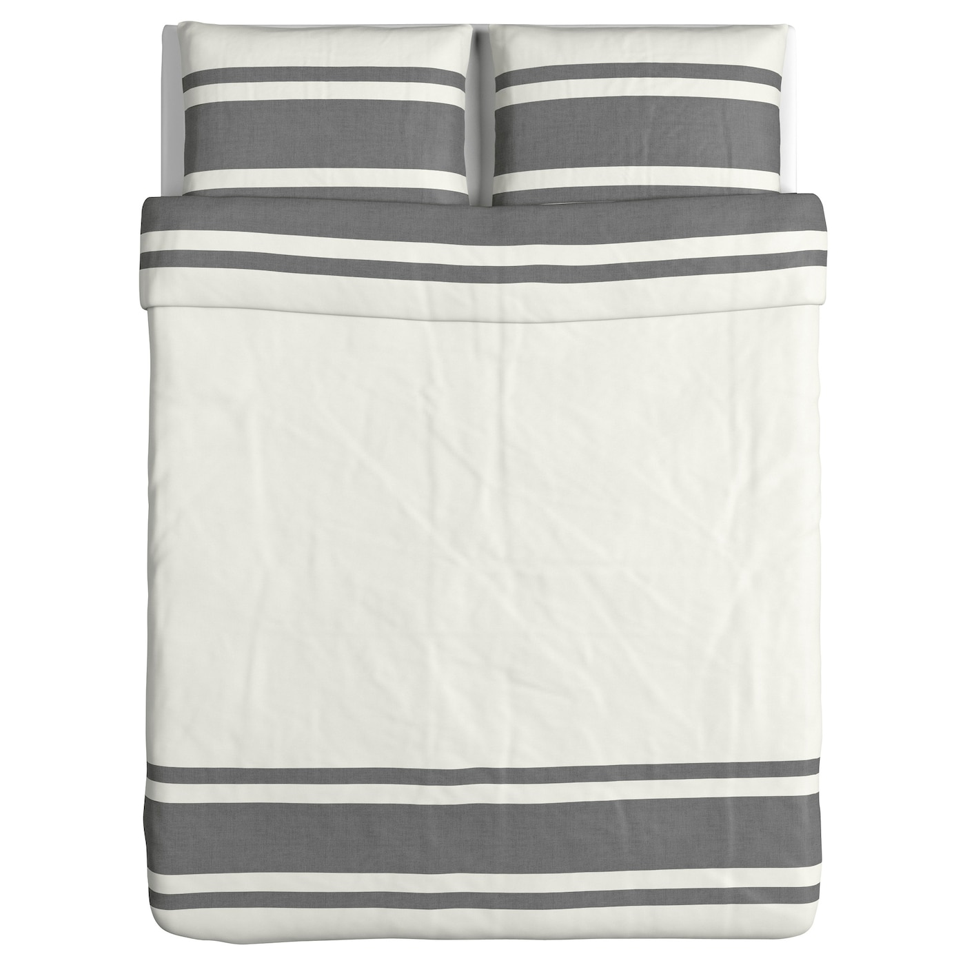 bj rnloka quilt cover and 2 pillowcases white black 200x200 50x80 cm ikea. Black Bedroom Furniture Sets. Home Design Ideas