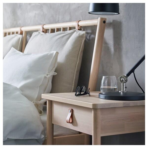 BJÖRKSNÄS Bedside table - birch - IKEA