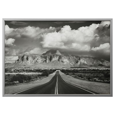 BJÖRKSTA picture with frame Superstition mountains, USA/aluminium-colour 140 cm 100 cm