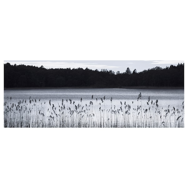 BJÖRKSTA Picture, Woodland lake, 140x56 cm