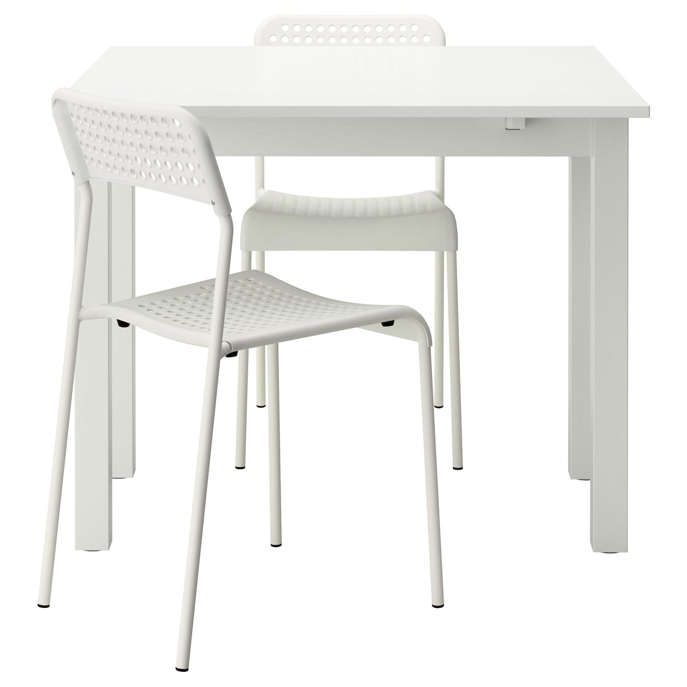 IKEA BJURSTA/ADDE table and 2 chairs Ideal as an end table against a wall.