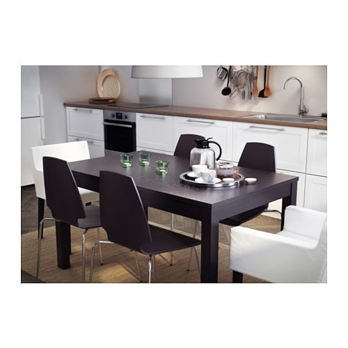 bjursta extendable table brown black 140 180 220x84 cm ikea. Black Bedroom Furniture Sets. Home Design Ideas