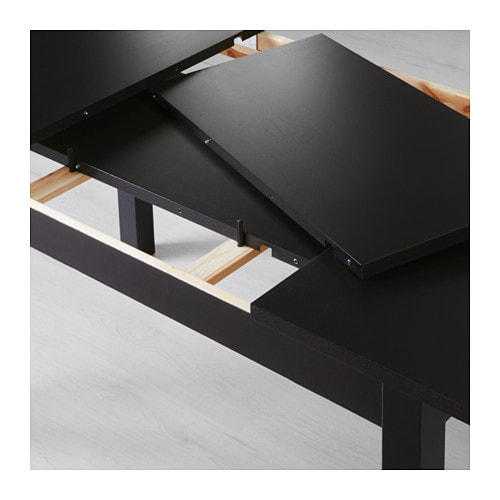 Bjursta extendable table brown black 140 180 220x84 cm ikea for Table extensible ikea bjursta brun noir