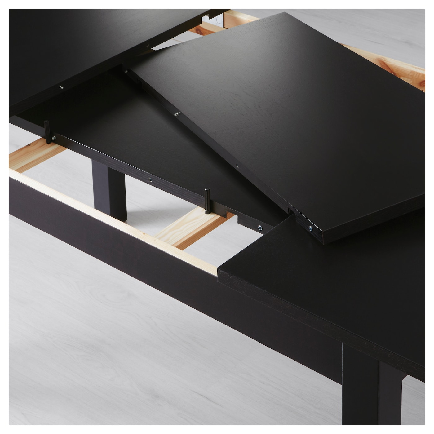 IKEA BJURSTA extendable table 2 extension leaves included.