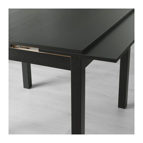 Bjursta extendable table brown black 90 129 168x90 cm ikea for Table 4 personnes ikea