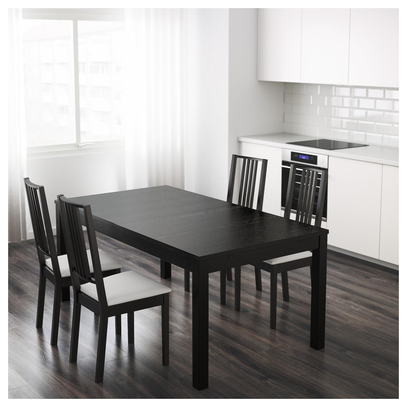 BJURSTA Extendable Table Brown Black 175 218 260x95 Cm