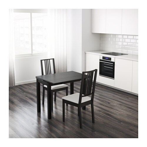 BJURSTA Extendable table Brown black 507090x90 cm IKEA