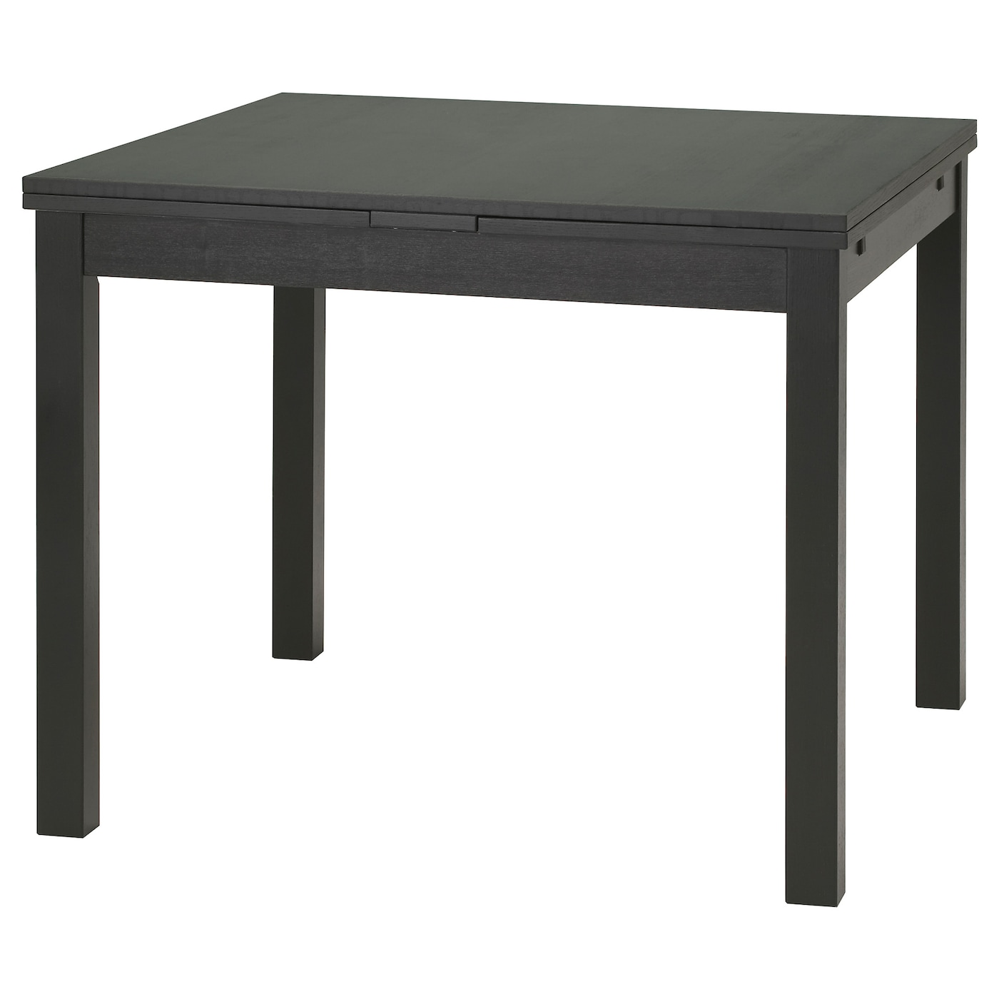 Bjursta extendable table brown black 90 129 168x90 cm ikea for Table noir salle a manger