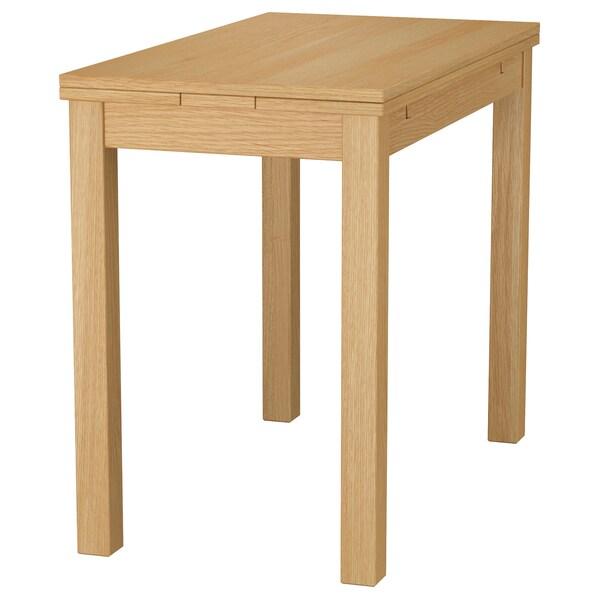BJURSTA extendable table oak veneer 70 cm 50 cm 90 cm 90 cm 74 cm