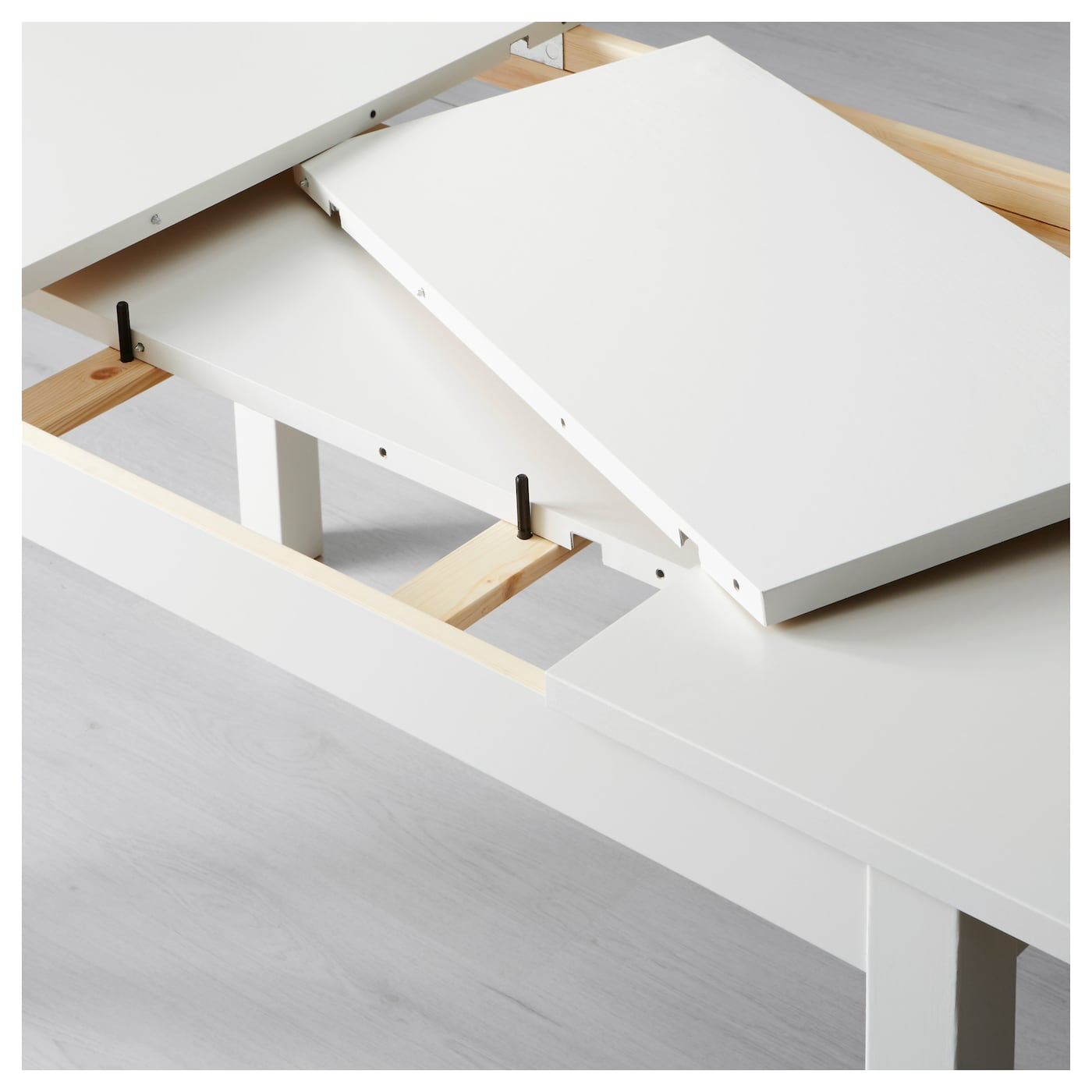 Bjursta extendable table white 140 180 220x84 cm ikea for Table extensible 80 cm de large