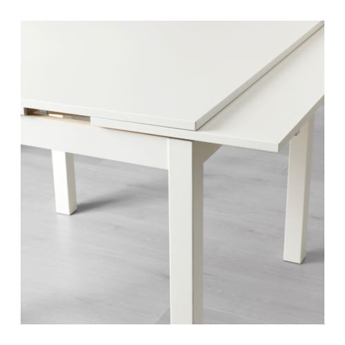 bjursta extendable table white 90 129 168x90 cm ikea. Black Bedroom Furniture Sets. Home Design Ideas