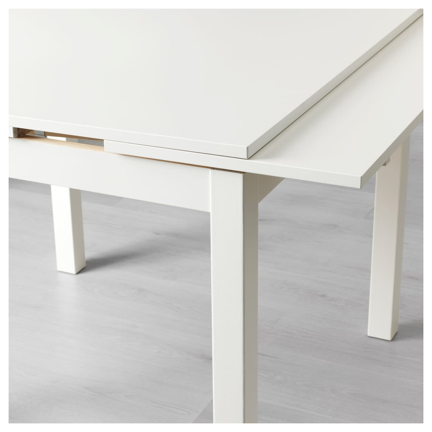 Bjursta extendable table white 90 129 168x90 cm ikea for Table sejour extensible