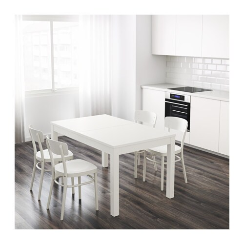 Bjursta extendable table white 140 180 220x84 cm ikea - Mesa bjursta ikea ...