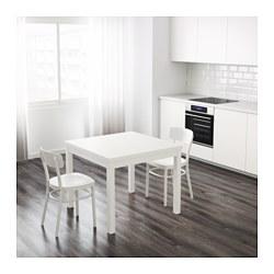 Bjursta extendable table white 90 129 168x90 cm ikea - Table a manger en verre ikea ...