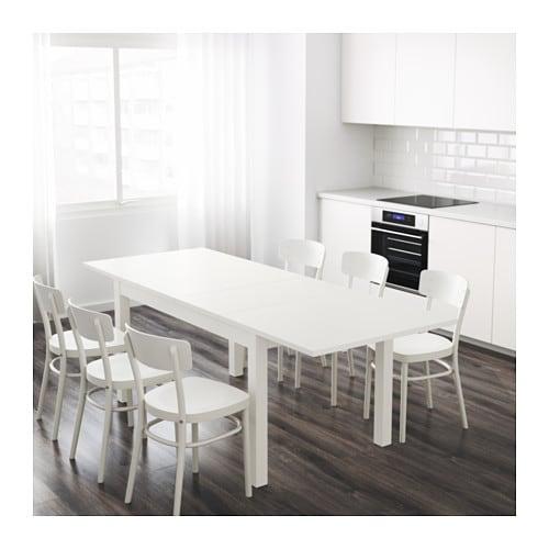 bjursta extendable table white 140 180 220x84 cm ikea. Black Bedroom Furniture Sets. Home Design Ideas