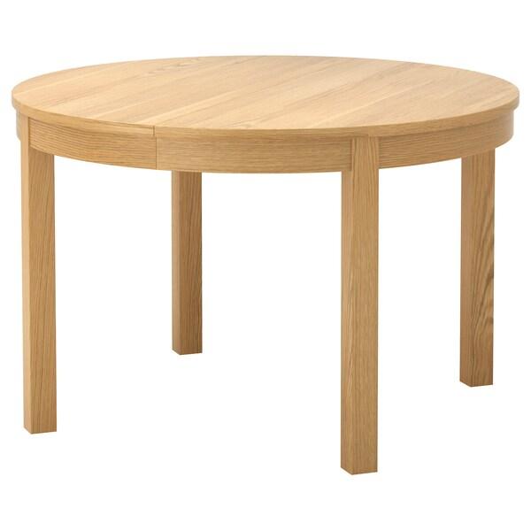 BJURSTA extendable table oak veneer 166 cm 74 cm 115 cm