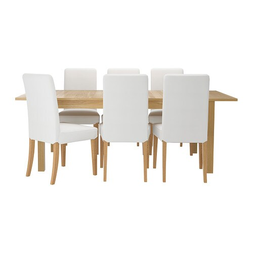 BJURSTA / HENRIKSDAL Table and 6 chairs IKEA It's quick and easy to change the size of the table to suit your different needs.