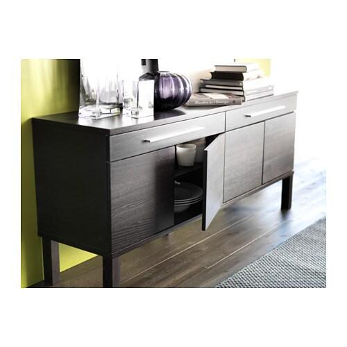 BJURSTA Sideboard Brown Black 155x68 Cm IKEA