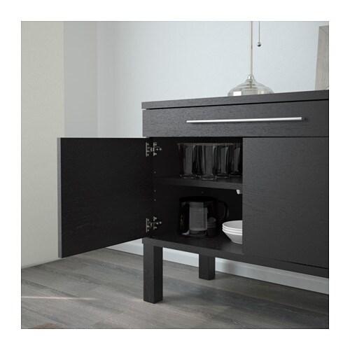 bjursta sideboard brown black 155x68 cm ikea. Black Bedroom Furniture Sets. Home Design Ideas
