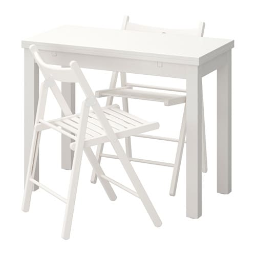IKEA BJURSTA/TERJE table and 2 chairs Ideal as an end table against a wall.