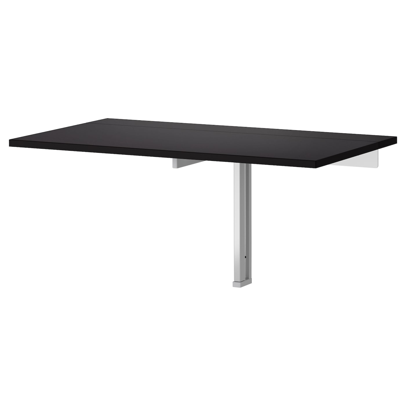 IKEA BJURSTA wall-mounted drop-leaf table The clear-lacquered surface is easy to wipe clean.