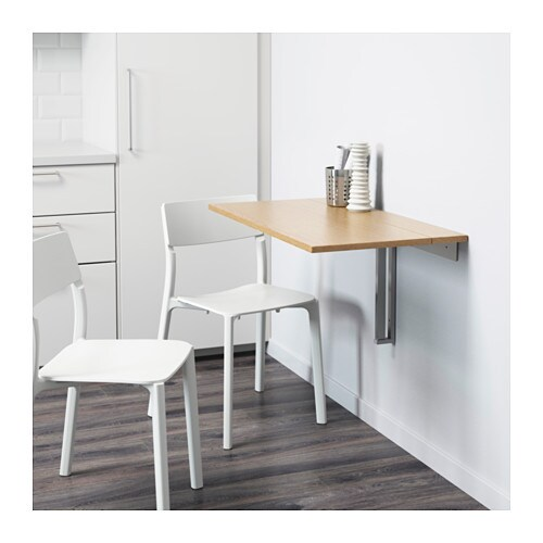 Jugendzimmer Ideen Mädchen Ikea ~ IKEA BJURSTA wall mounted drop leaf table The clear lacquered surface