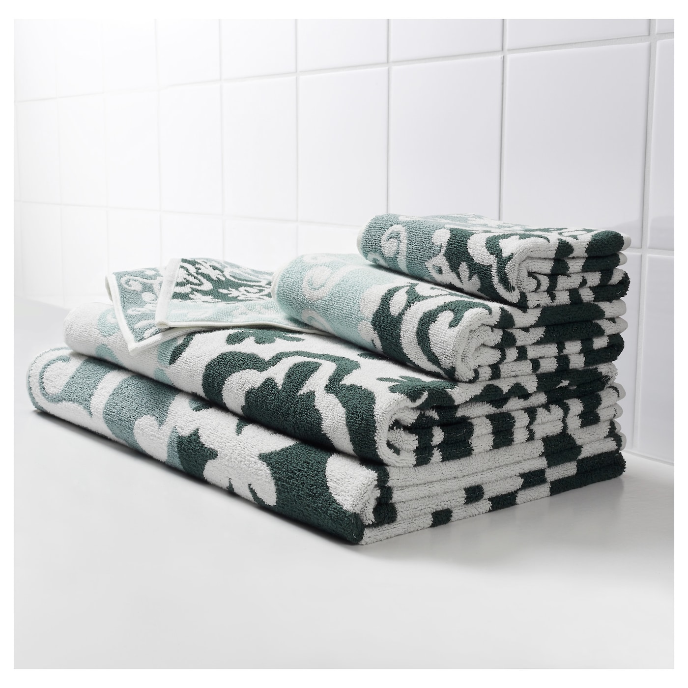 IKEA BLÄDJAN hand towel The long, fine fibres of combed cotton create a soft and durable towel.