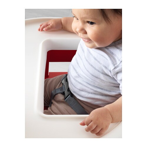 IKEA BLÅMES highchair with tray You can take off the tray for easy cleaning.