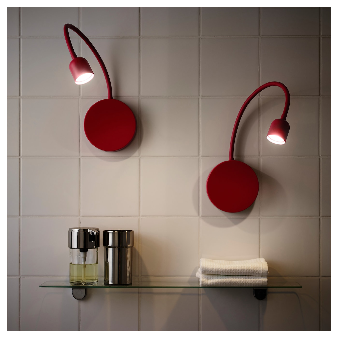 BLaVIK LED wall lamp Battery-operated red - IKEA