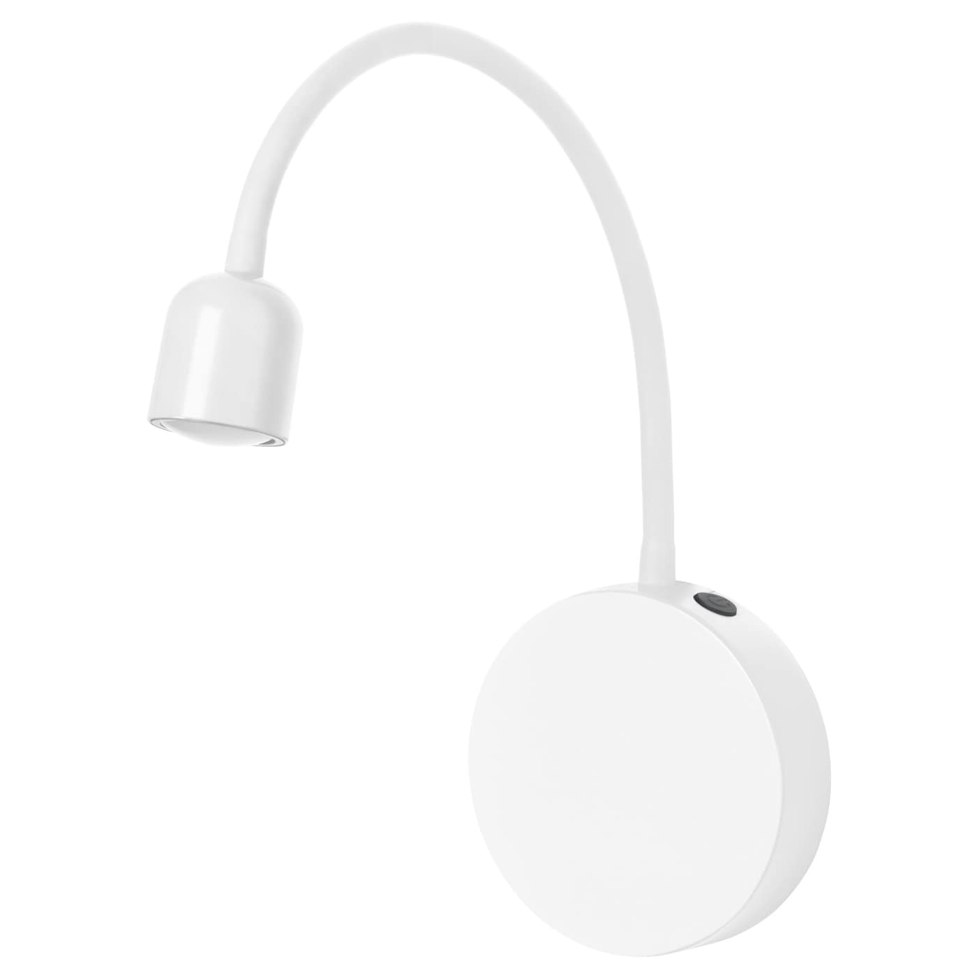 bl vik led wall lamp battery operated white ikea. Black Bedroom Furniture Sets. Home Design Ideas