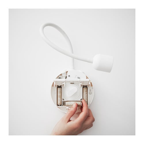 Battery Operated Wall Mounted Lamps : BL?VIK LED wall lamp Battery-operated white - IKEA
