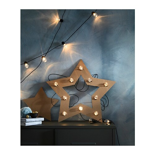 Ikea BlÖtsnÖ Led Lighting Chain With 12 Lights Creates A Soft Cosy Mood Light In