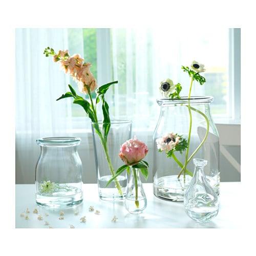 Bladet Vase Clear Glass 30 Cm Ikea