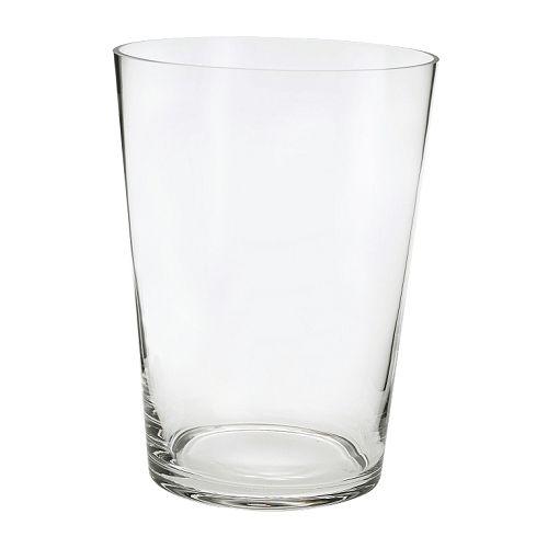 BLADET Vase, clear glass