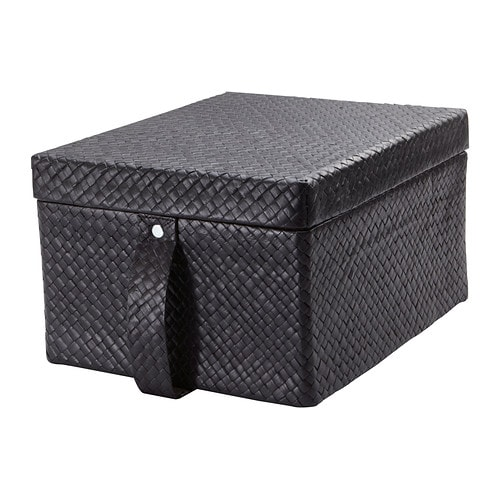 BLADIS Box with lid IKEA This box is perfect for storing your DVDs, games, chargers remotes or desk accessories.
