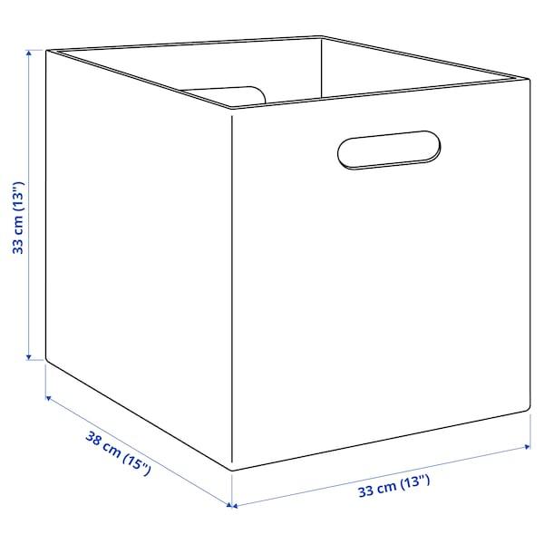 BLÄDDRA Box, grey, 33x38x33 cm