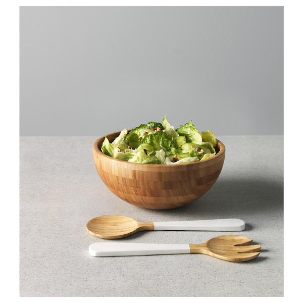 BLANDA MATT Serving bowl, bamboo, 28 cm
