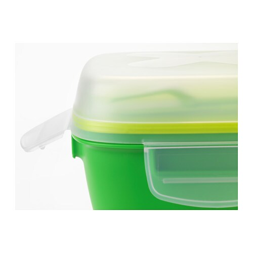 BLANDNING Lunch Box For Salad Green 17x17x11 Cm