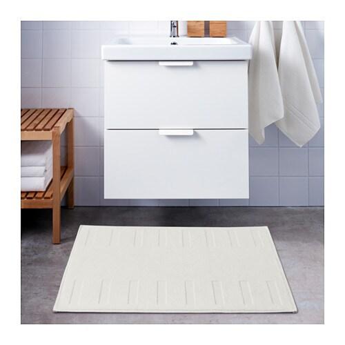 BLANKSJÖN Bath mat White 50x80 cm - IKEA