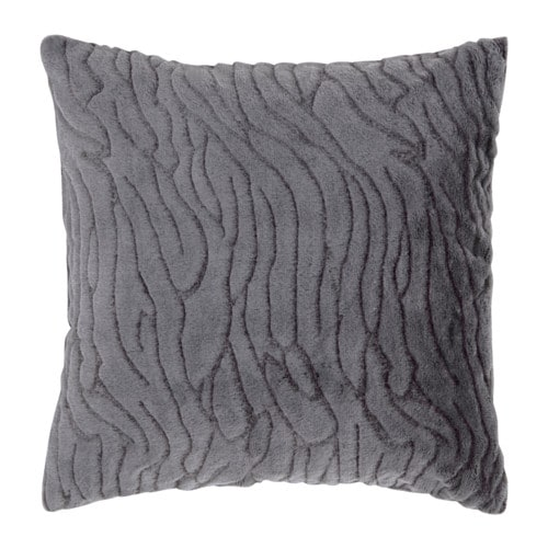 bl regn cushion cover dark grey line ikea. Black Bedroom Furniture Sets. Home Design Ideas